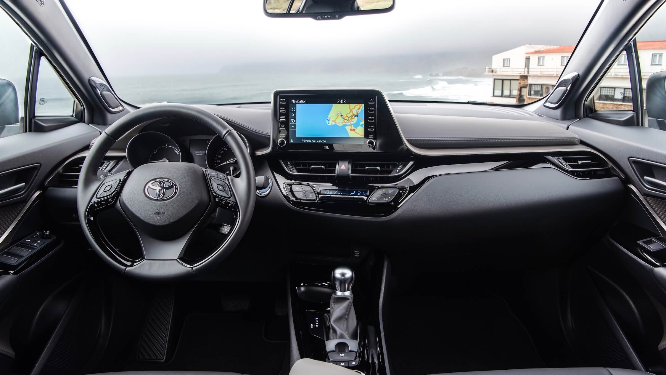new Toyota C HR dashboard and steering wheel